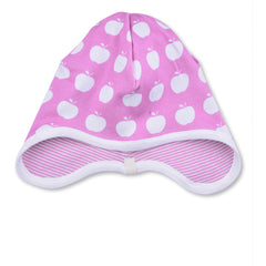 APPLE-BONNET-ORGANIC-BABY-PINK-REVERSIBLE-STRIPES