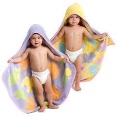 Breganwood-Organics-Hooded-Towel-Elephant-Purple-Yellow-Reversible-Toddler-Wear