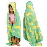 Breganwood-Organics-Hooded-Towel-Zebras-Green-Yellow-Reversible-Toddler-Wear-Back