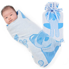 Breganwood-Organics-Swaddle-Bib-Washcloth-Set_Prairie_Blue-Ferret