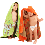 Organic-Hooded-Towel-Baby-Toddler-Jungle_Orange_Green