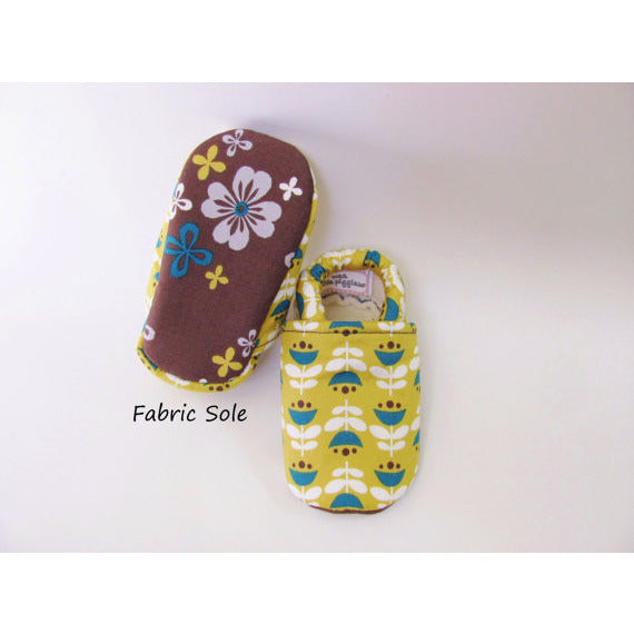 Organic-Yellow-Flower-Baby-Toddler-Girl-Shoes-Fabric-Sole