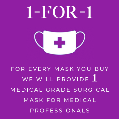 We will donate a medical grade mask for every mask you buy