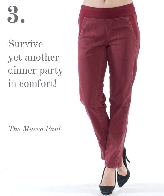 Survive yet another dinner party in comfort.