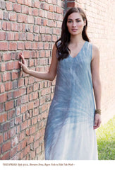 Style 3212, Sheraton Dress, Rayon Voile in Hide Tide Wash