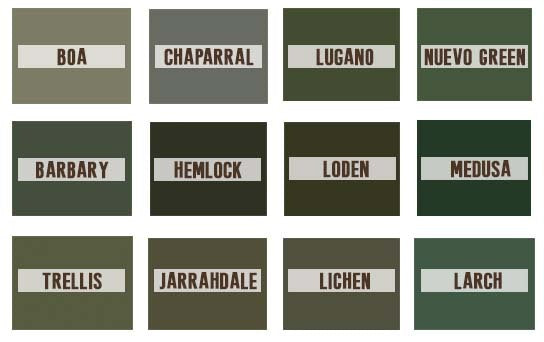 30 names for color green