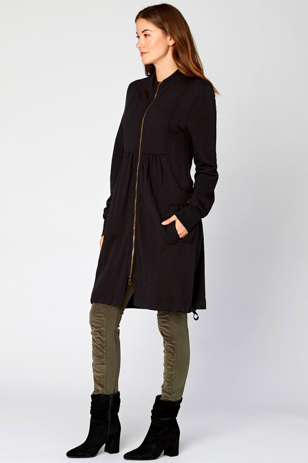 Wearables Funnel Neck Long Jacket
