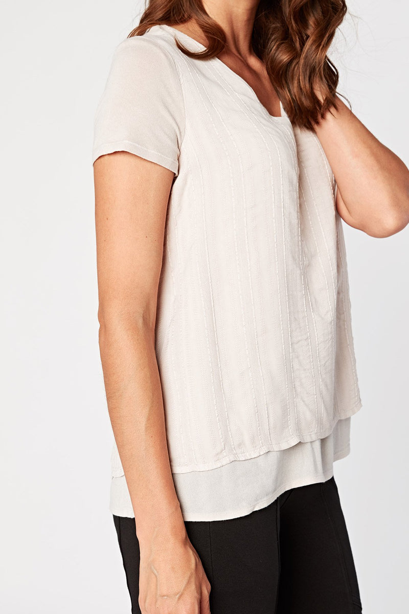 XCVI Faux Layer Tee