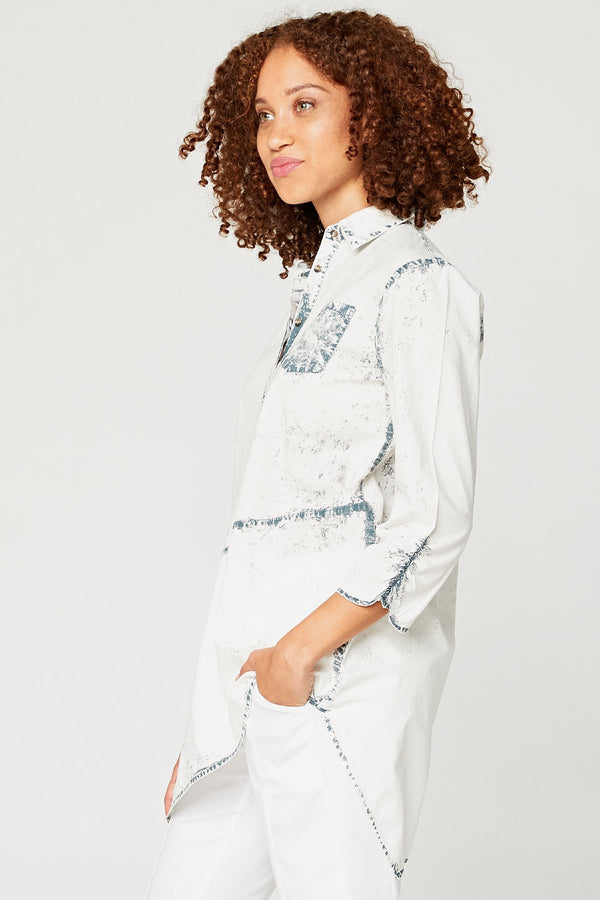 XCVI Twist Button-Down Top