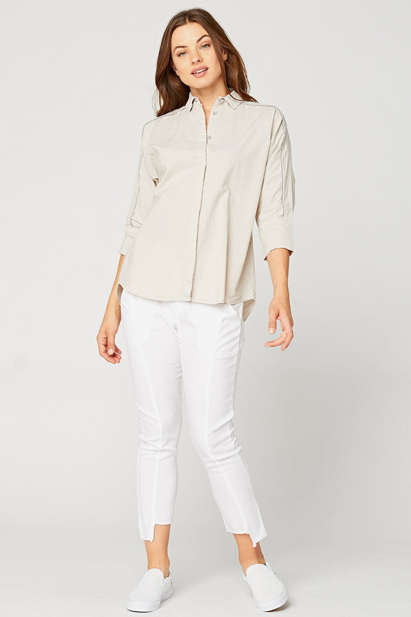 XCVI Power Button-Down Shirt