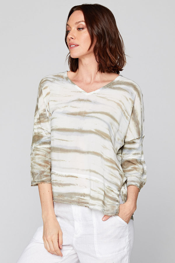 XCVI Fringed Top