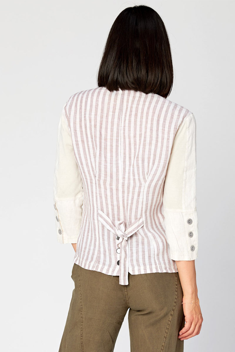 XCVI Striped Back Jacket