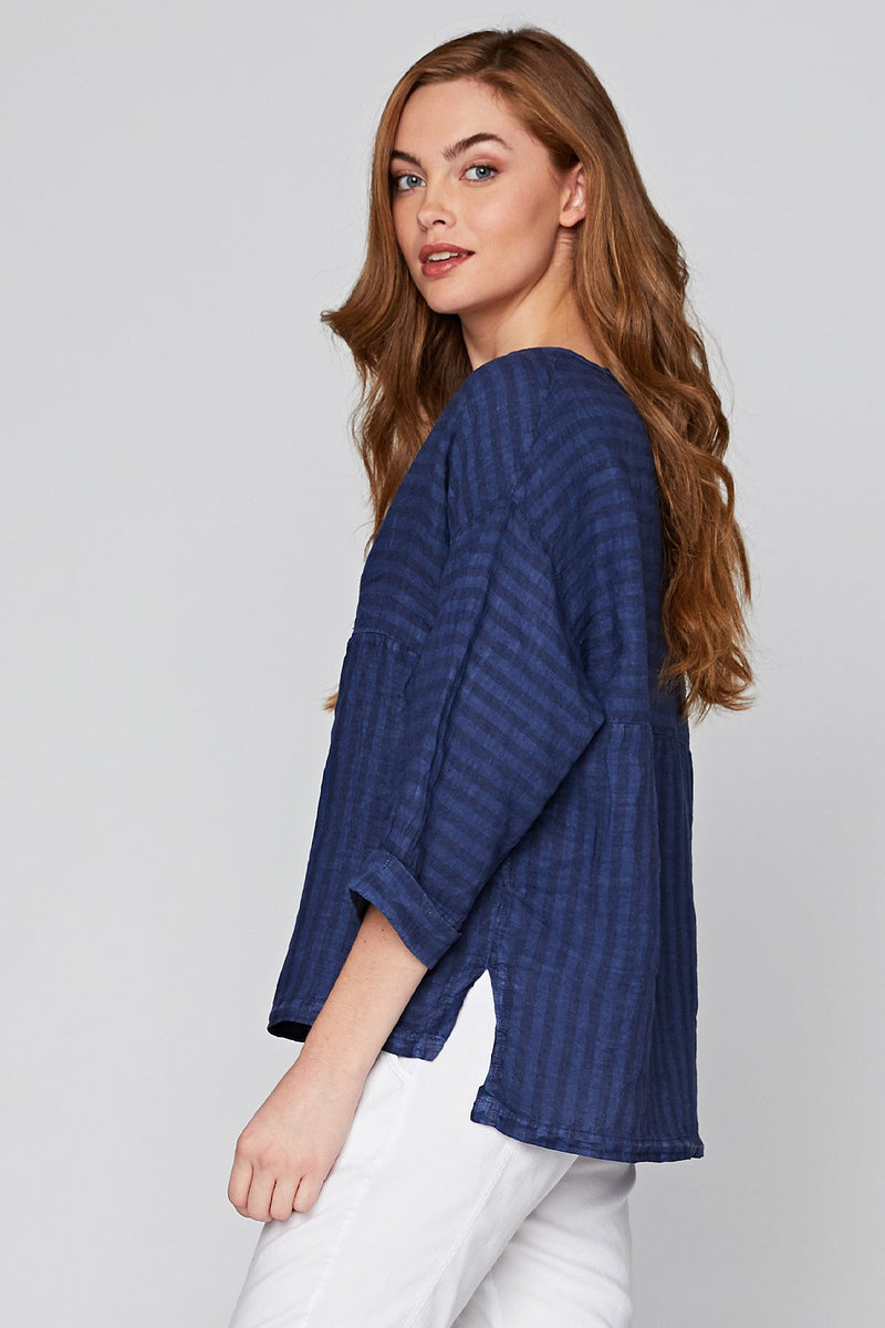 XCVI The Striped Blouse