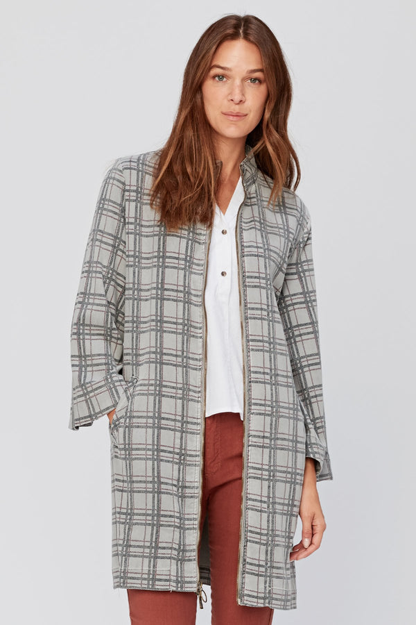 Zip-Through Checks Jacket