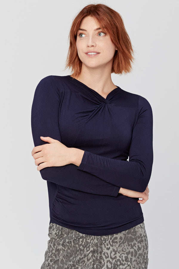 XCVI Front Knot Top