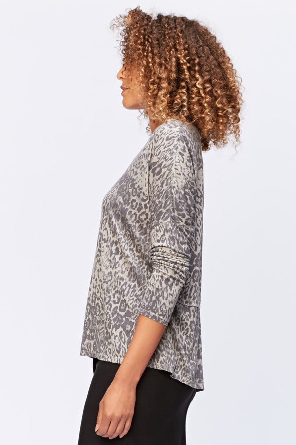 XCVI Leopard V-Neck Top