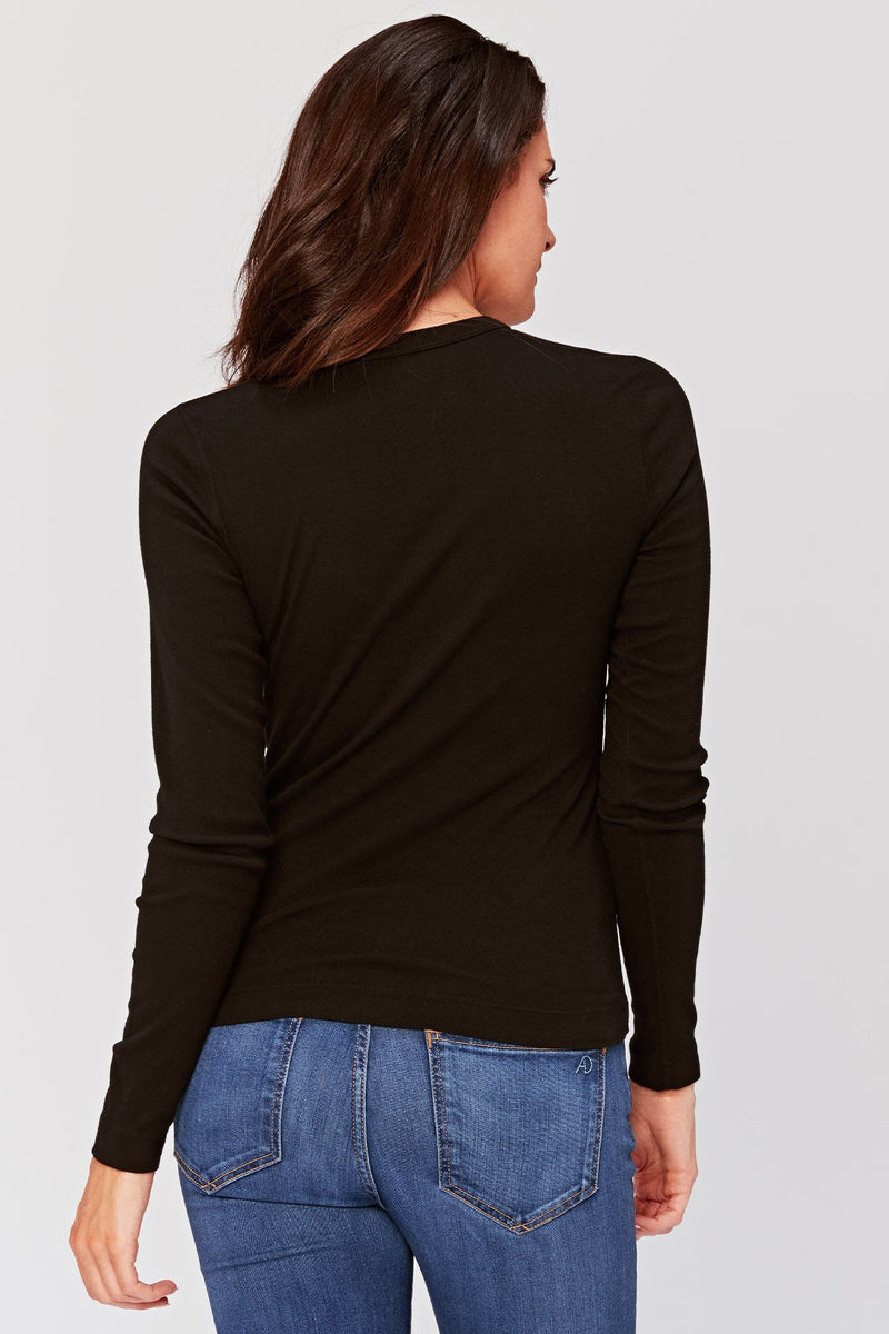 Essentials Pinpoint Long Sleeve Tee