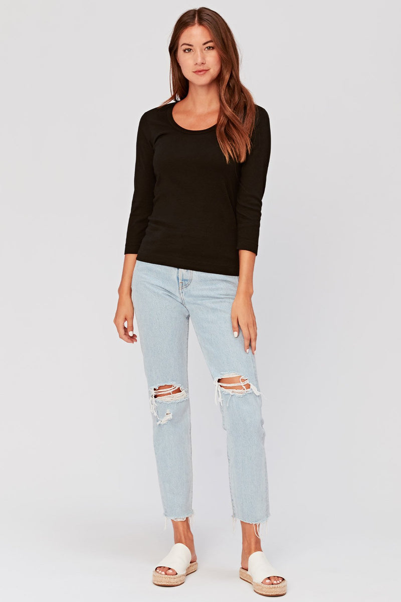 Essentials Speckle Scoop Neck Tee