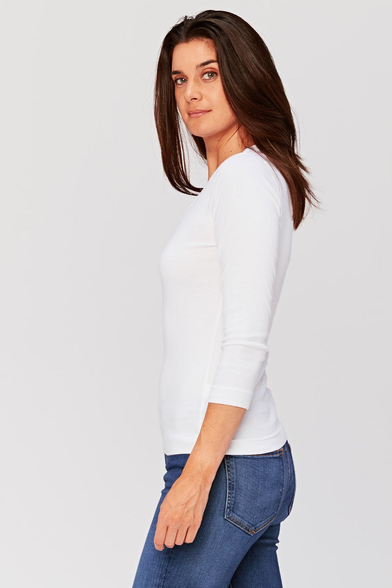 Speckle Scoop Neck Tee