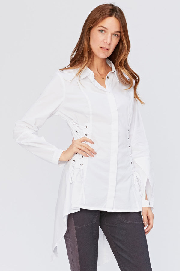 XCVI Dinah Lace-Up Top