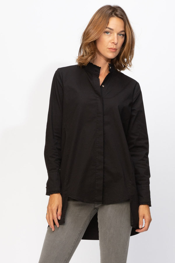 XCVI Lina Ruffle Button-Up