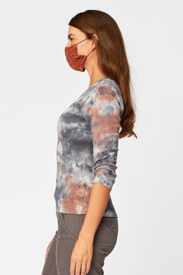 Essentials Organic Speckle Scoop Neck Tee
