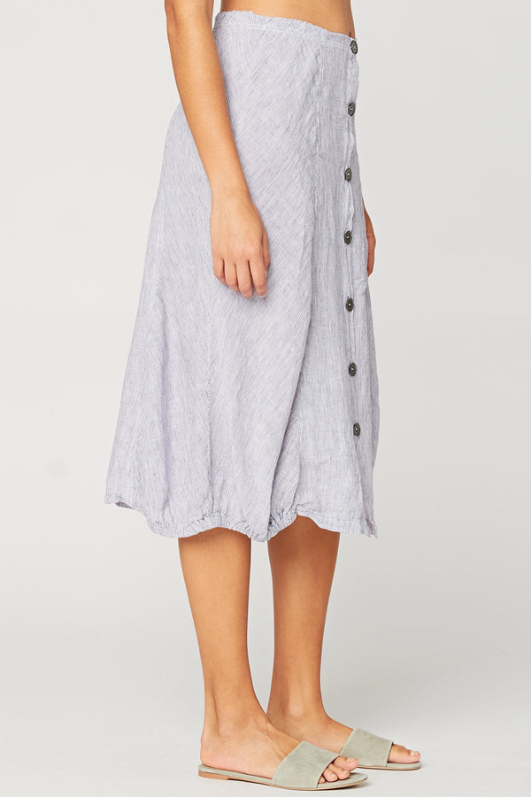 XCVI Exposed Buttons Skirt