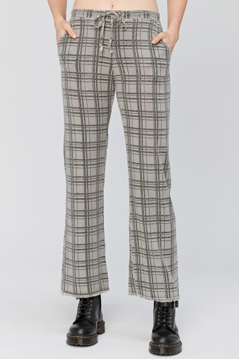 XCVI Checks Wide-Leg Trouser