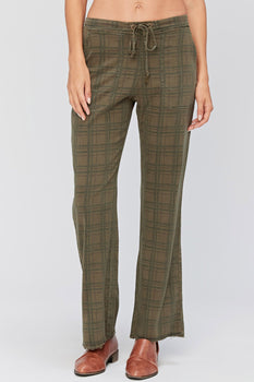 Checks Wide Leg Trouser