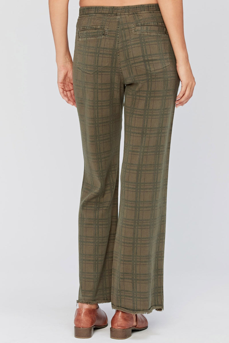 XCVI Checks Wide Leg Trouser