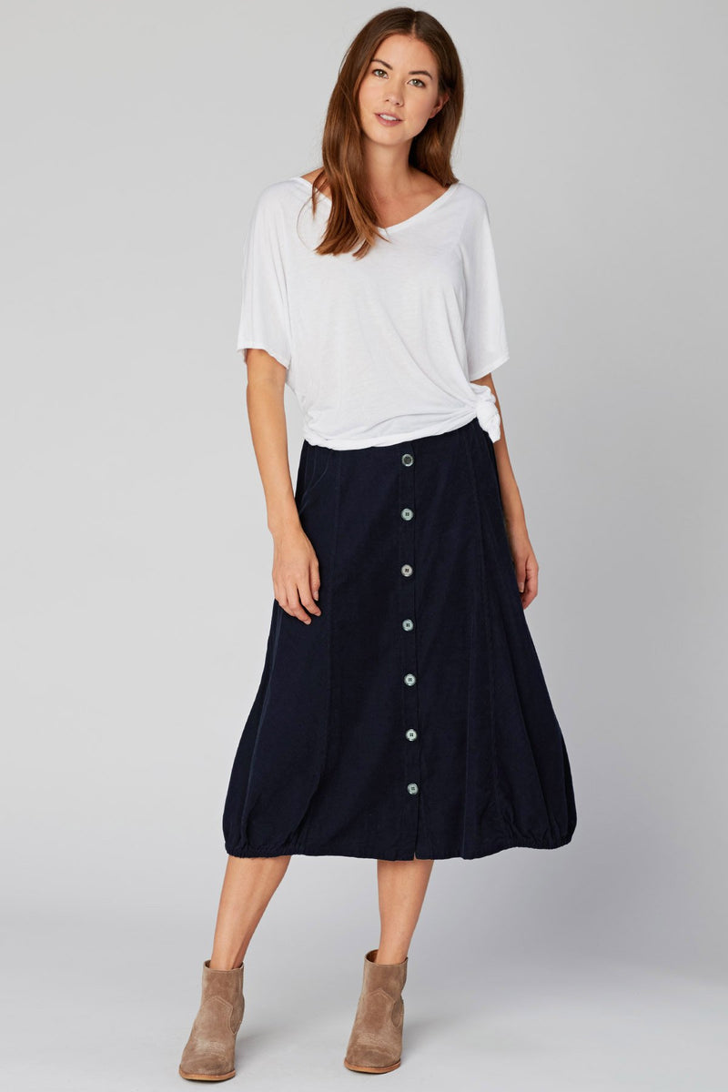 Wearables Exposed Buttons Skirt