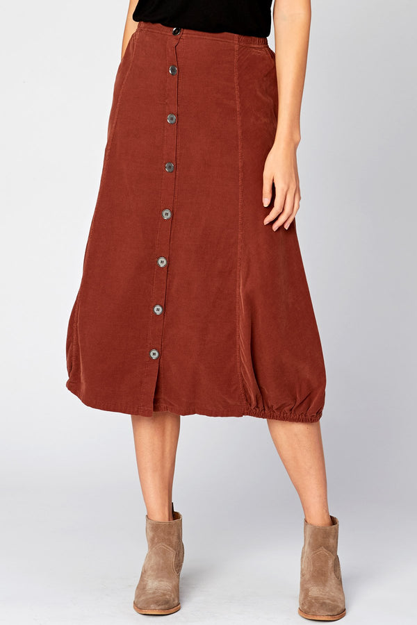 Exposed Buttons Skirt