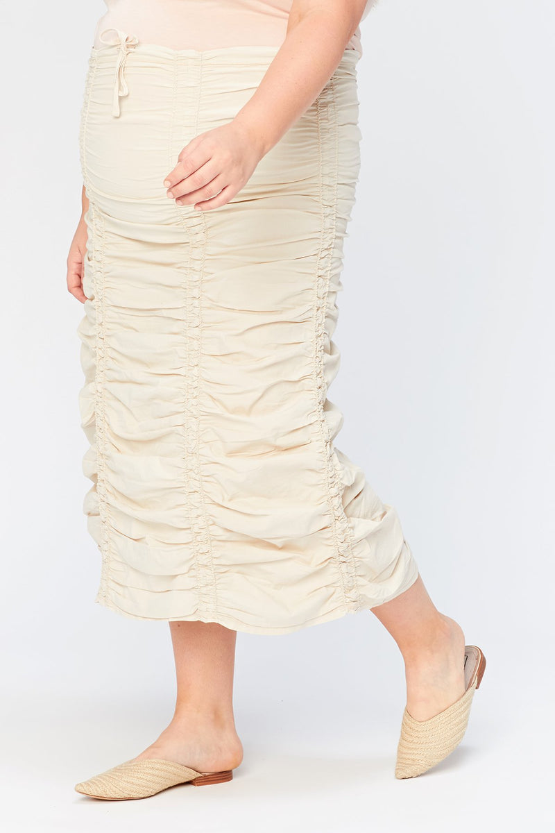 XCVI Plus Double Shirred Panel Skirt