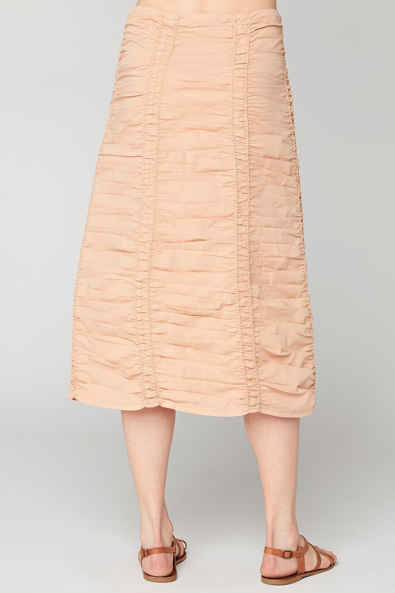 Double Shirred Panel Skirt
