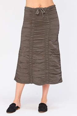 Wearables Double Shirred Panel Skirt
