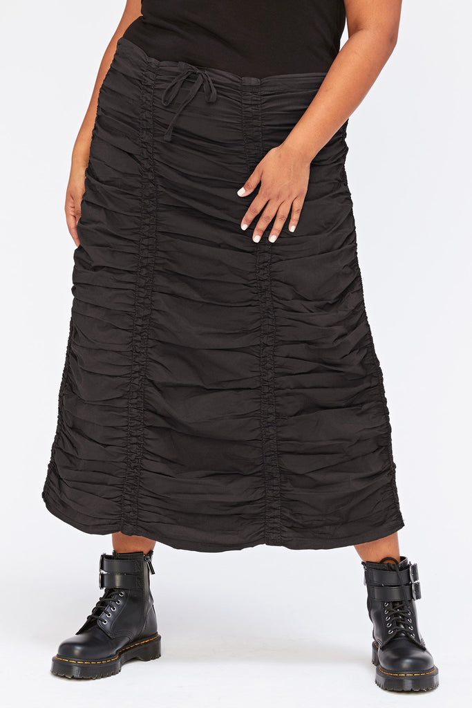 Double Shirred Panel Skirt +