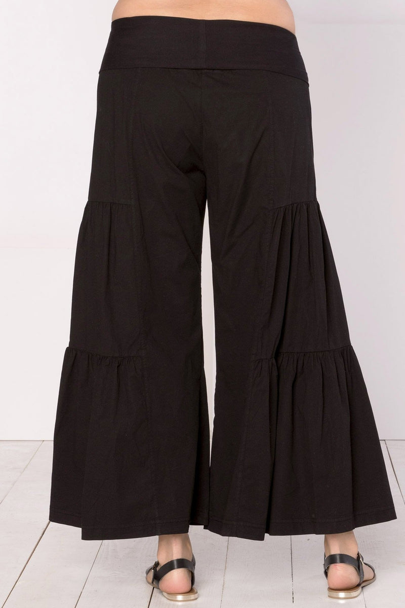 Side-Tier Palazzo Pant+