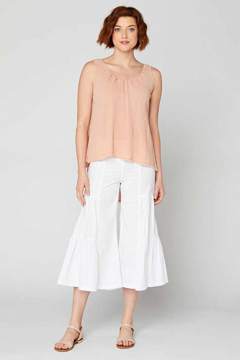 Wearables Side-Tier Palazzo Crop