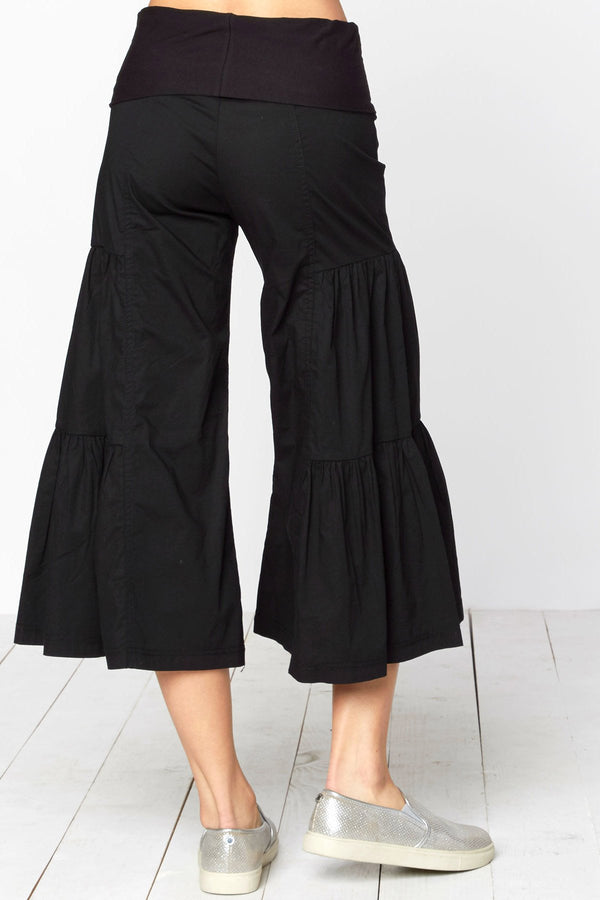 Cropped Tier Palazzo Pant