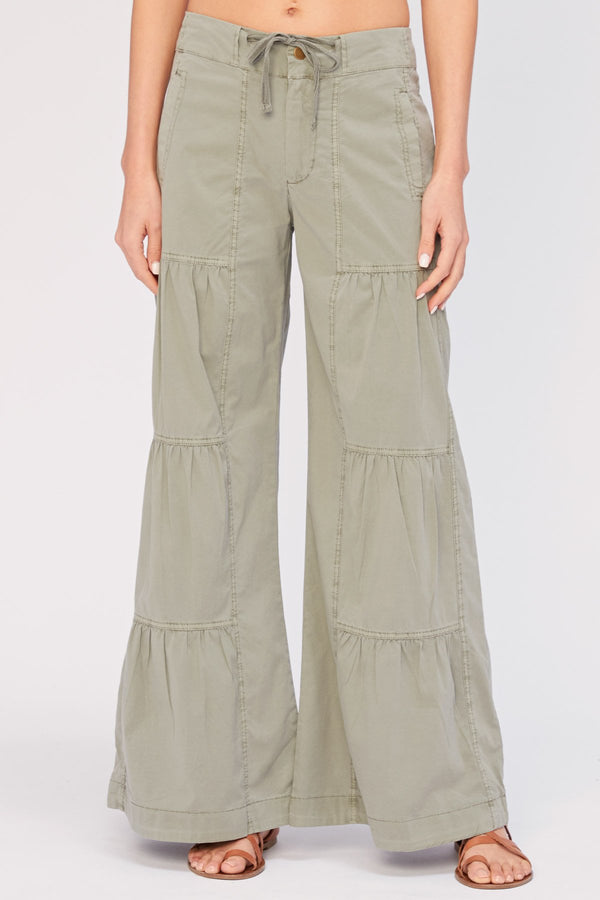 Wearables Terraced Wide-Leg Pant