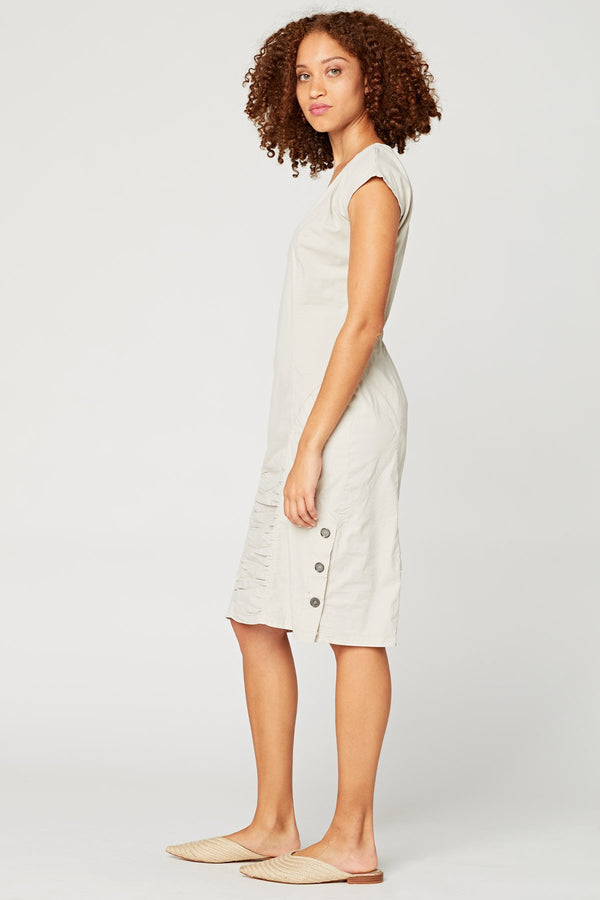 XCVI Cap-Sleeve Midi Dress