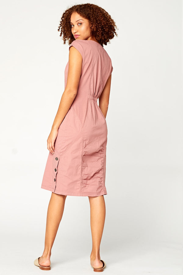 Cap-Sleeve Midi Dress