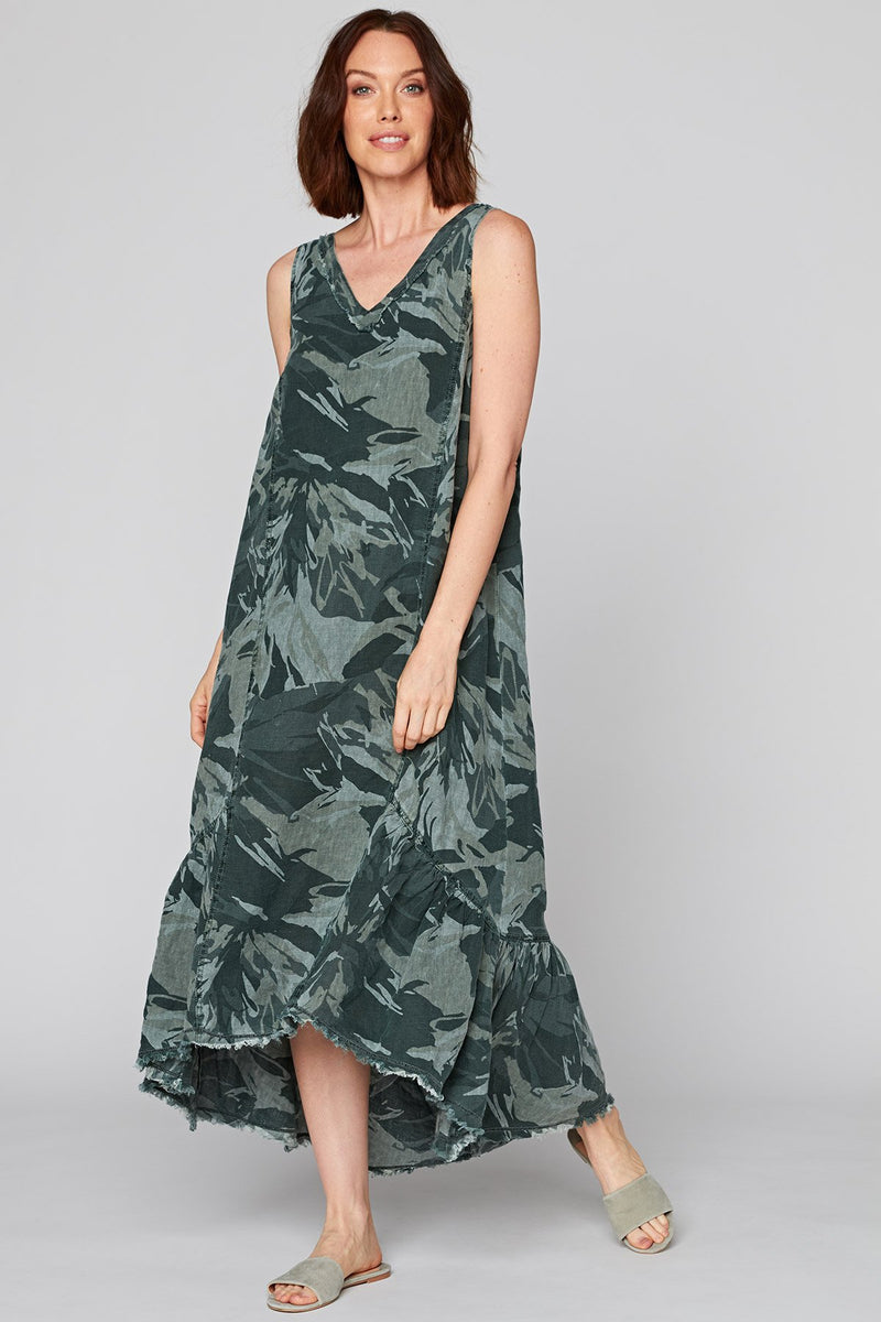XCVI Camo Tropical Dress