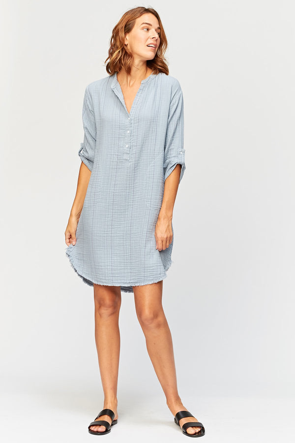 XCVI Ynez Stripe Shirt Dress