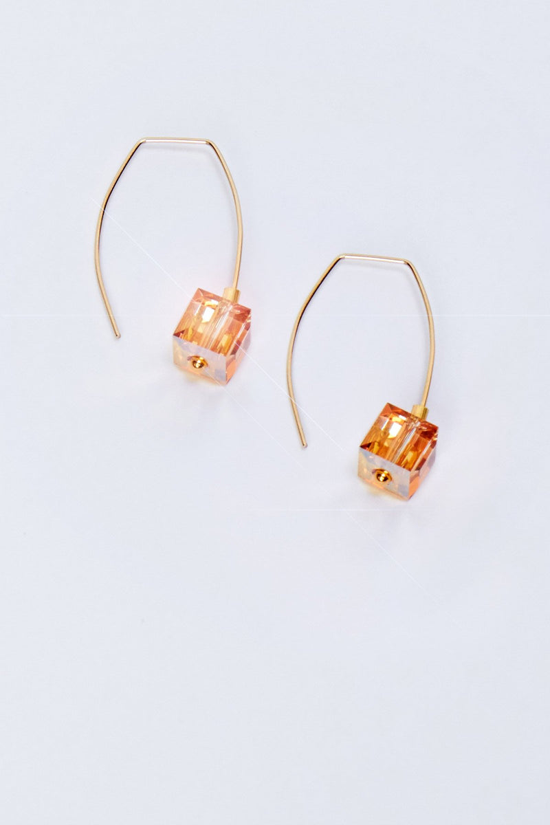 Metallic Sunshine Drop Earrings