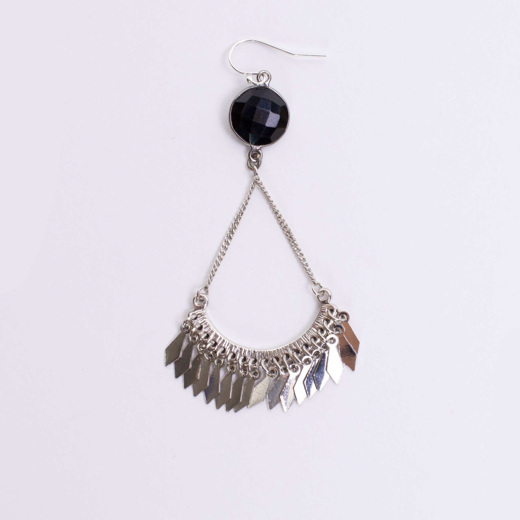 black modolo di drp blck cg dm errngs pear earrings shape ox pr slvr sterling two cage onyx drop silver