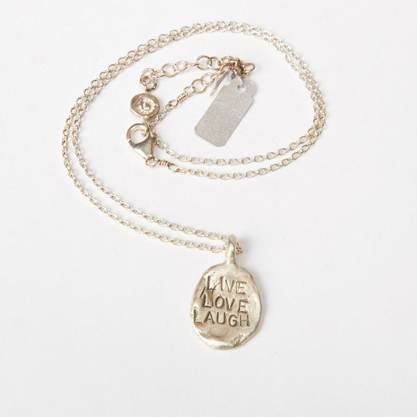 "Liza Shtromberg ""Live Love Laugh"" Pendant Necklace"