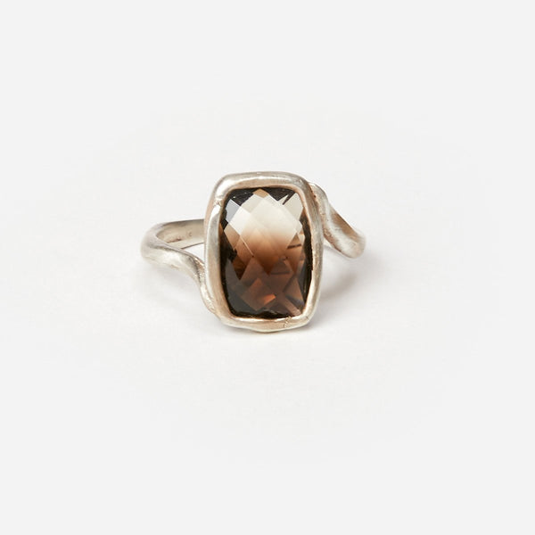 Liza Shtromberg Bi-Color Smokey Quartz Silver Ring