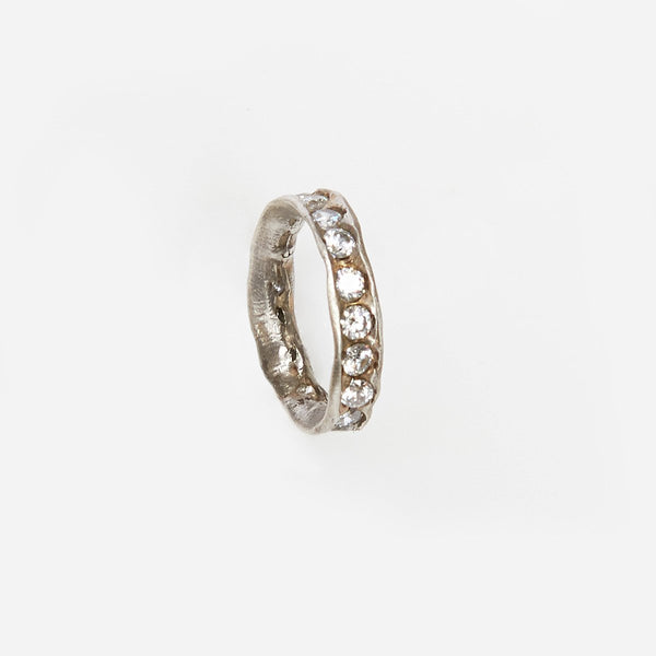 Liza Shtromberg Hand-Sculpted Silver Eternity Band