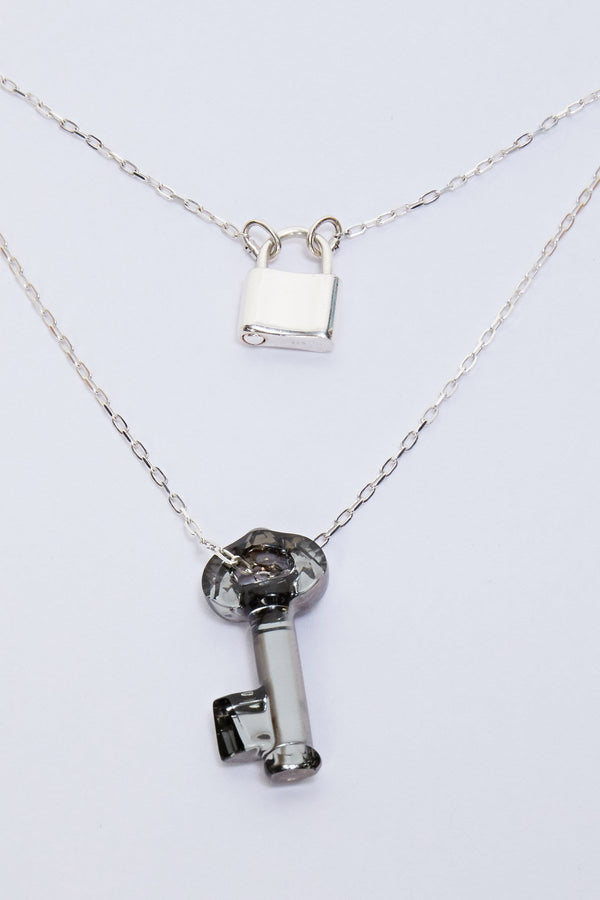 Shübx Designs Lock & Key Long Necklace